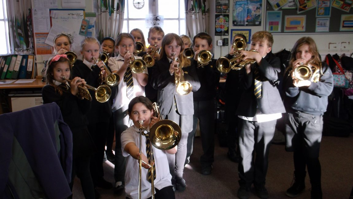 School Band plays for Christmas Fayre