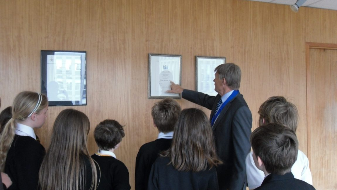 NJA School Council Visit Cornwall County Hall
