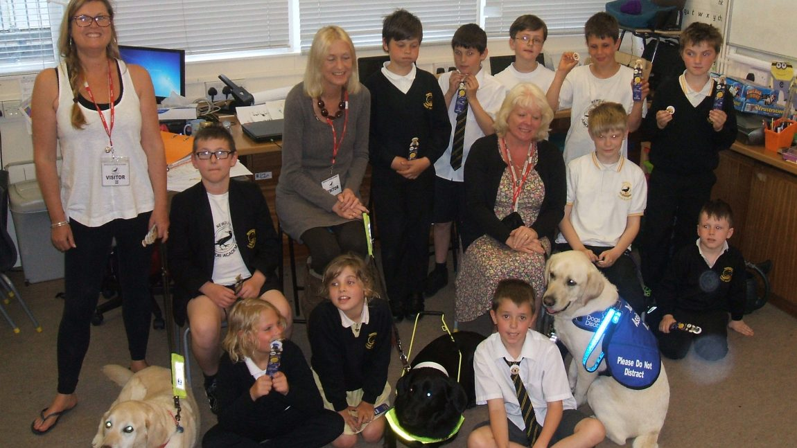 Working Dogs Visit Life Skills Group