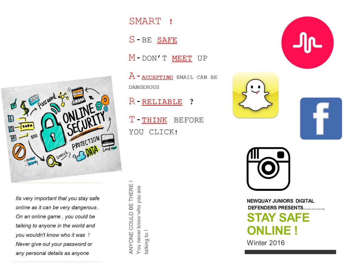 stay safe online newquay junior academy