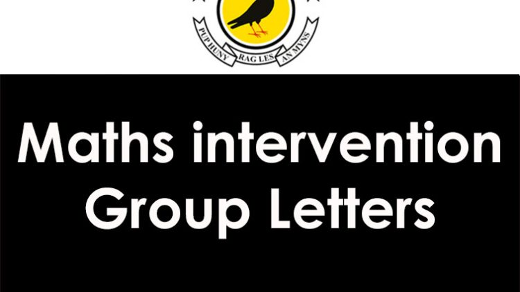 Maths Intervention Group Letters