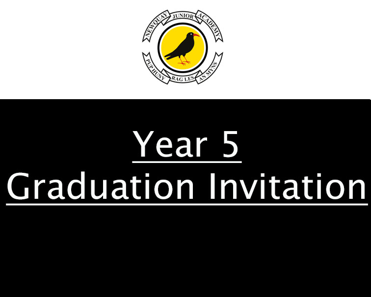 Year 5 Graduation Invite