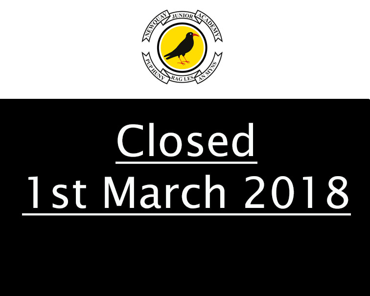 Closed 1st March 2018