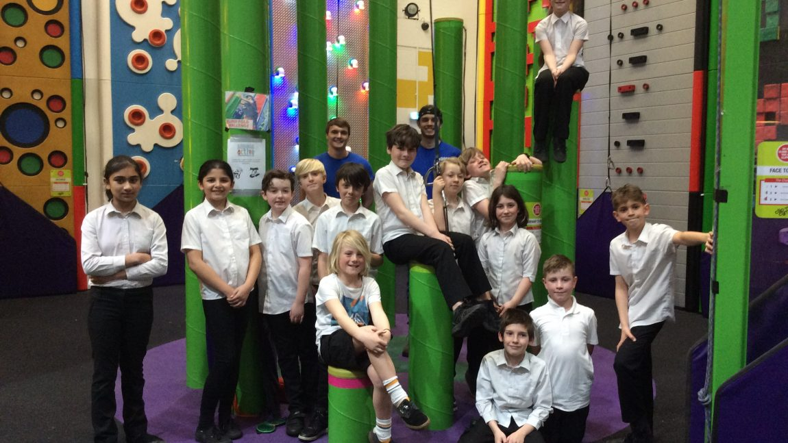 Accelerated Reader winners enjoy Clip 'n Climb