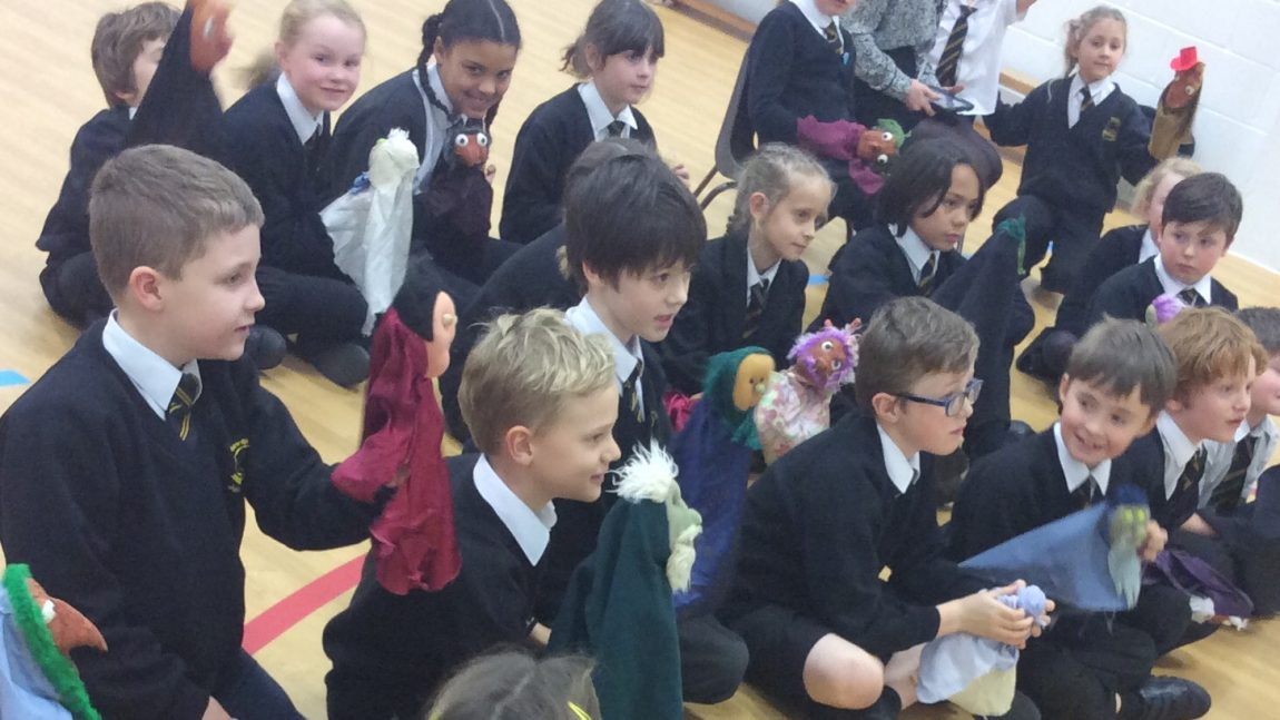 Squashbox Theatre Entertains Year 3 with Kooky Cornish Characters.