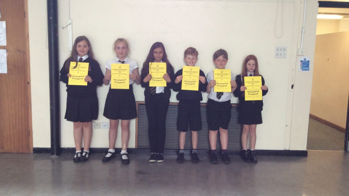 Yellow Certificate Winners!