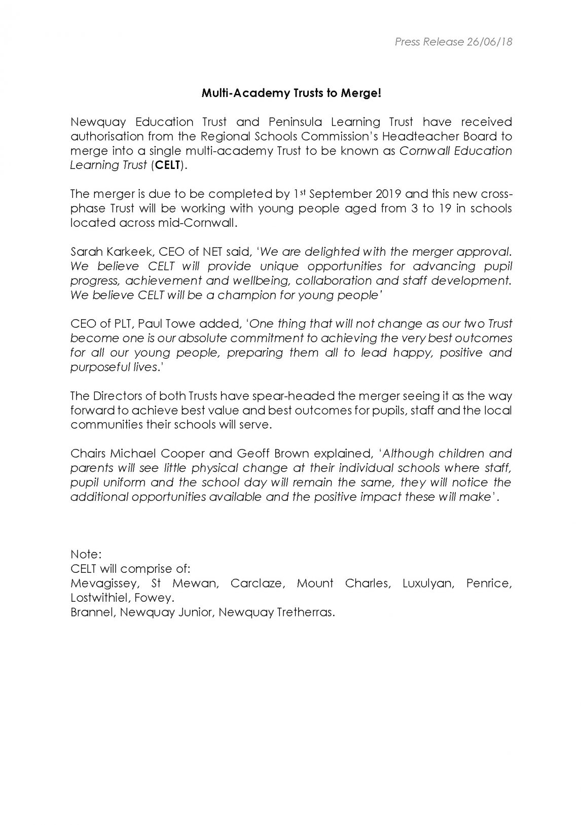 press release merger 26.06.18 SCK PT