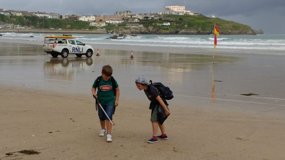 Year 3 visit Newquay Beaches with an Environmental focus