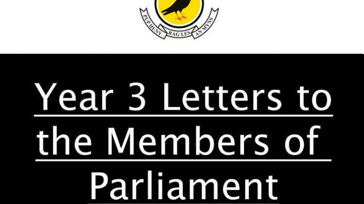 Year 3 Letters to the Members of Parliament