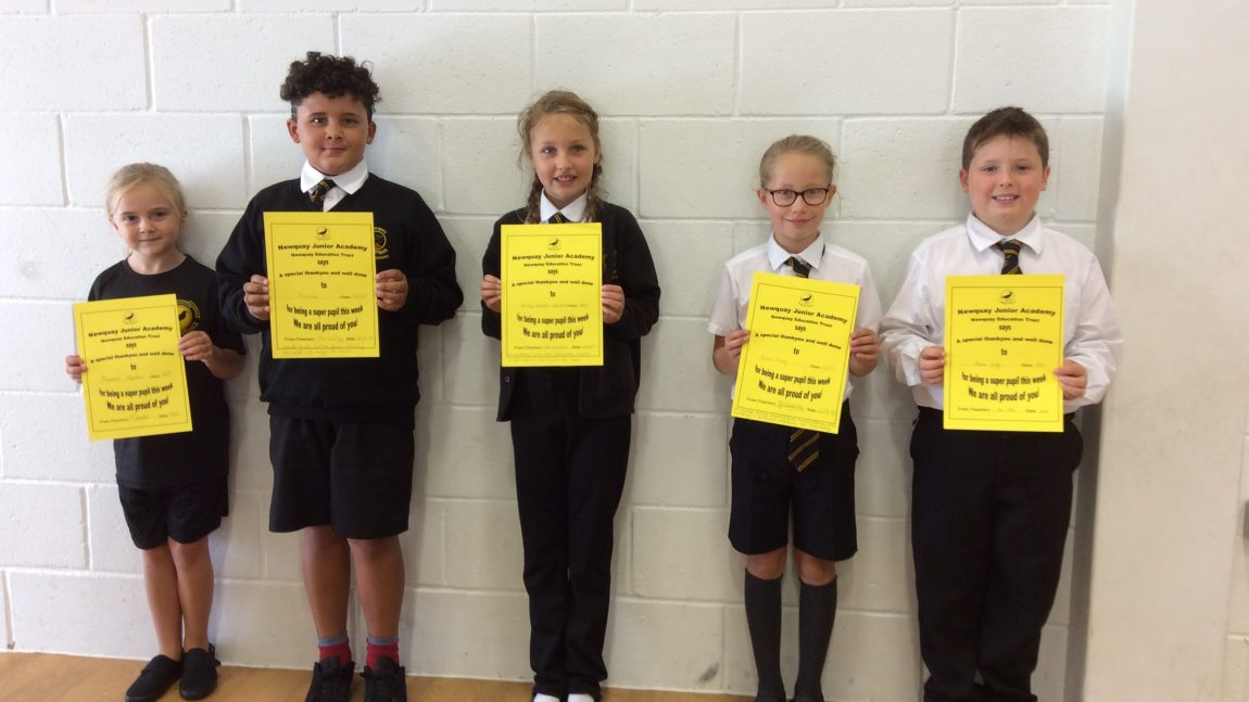Yellow Certificate and Medal Winners – 21st September 2018