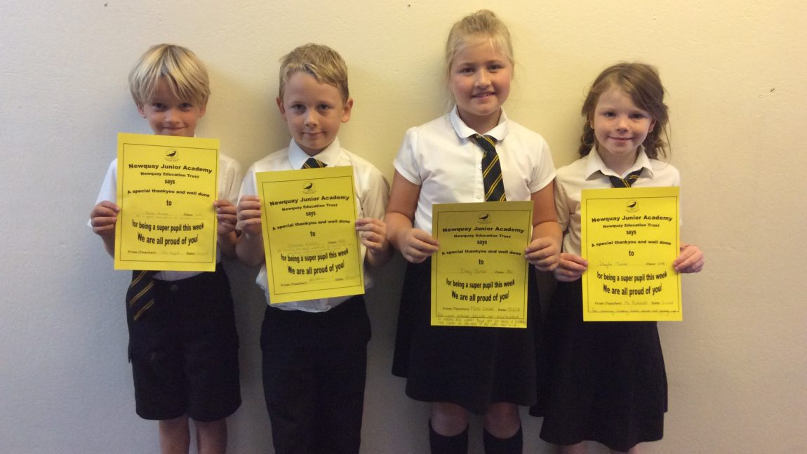 Yellow Certificate and Medal Winners – 5th October 2018