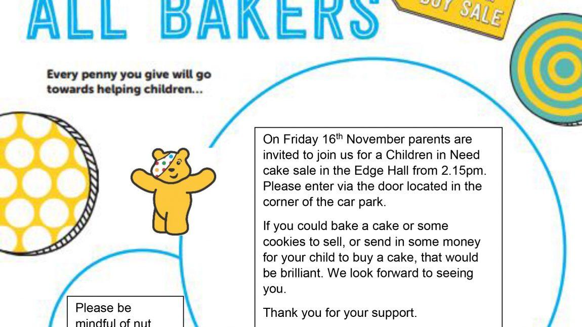 Cake Sale – Friday 16th November