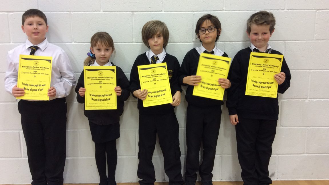 Yellow Certificate and Medal Winners – 7th December 2018