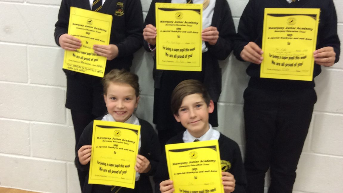 Yellow Certificate and Medal Winners – 14th December 2018