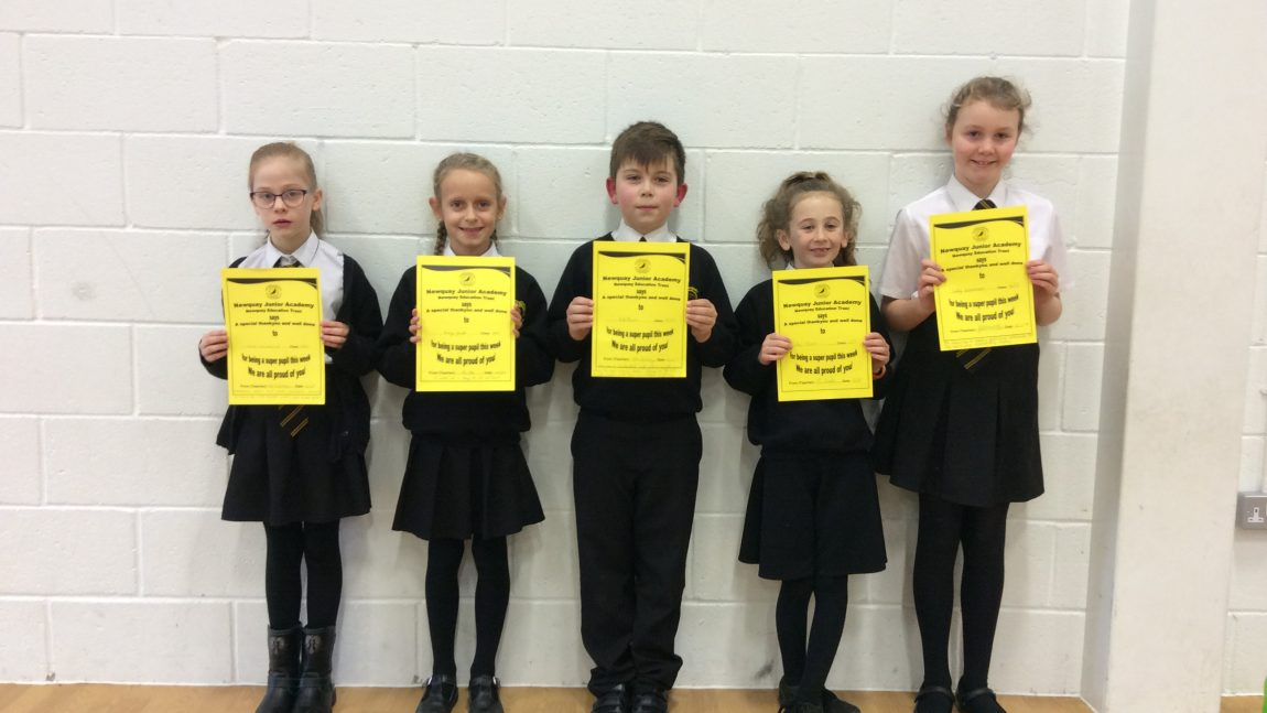Yellow Certificate and Medal Winners – January 2019