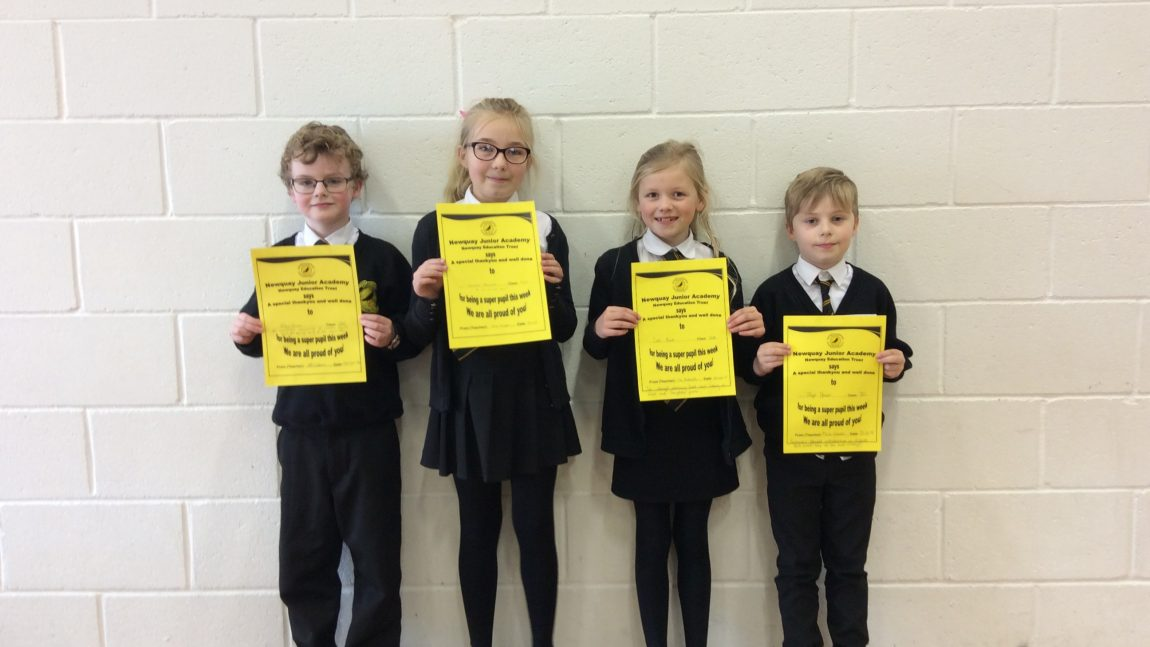 Yellow Certificate and Medal Winners – 25th January 2019