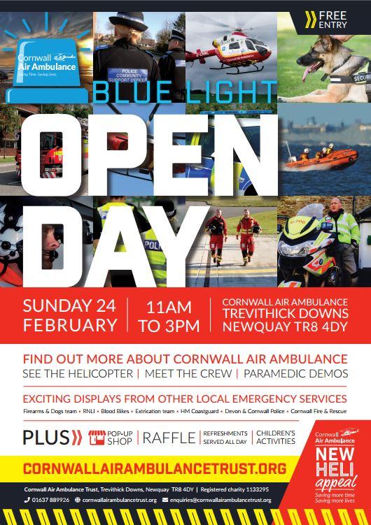 Cornwall Air Ambulance – Blue Light Day