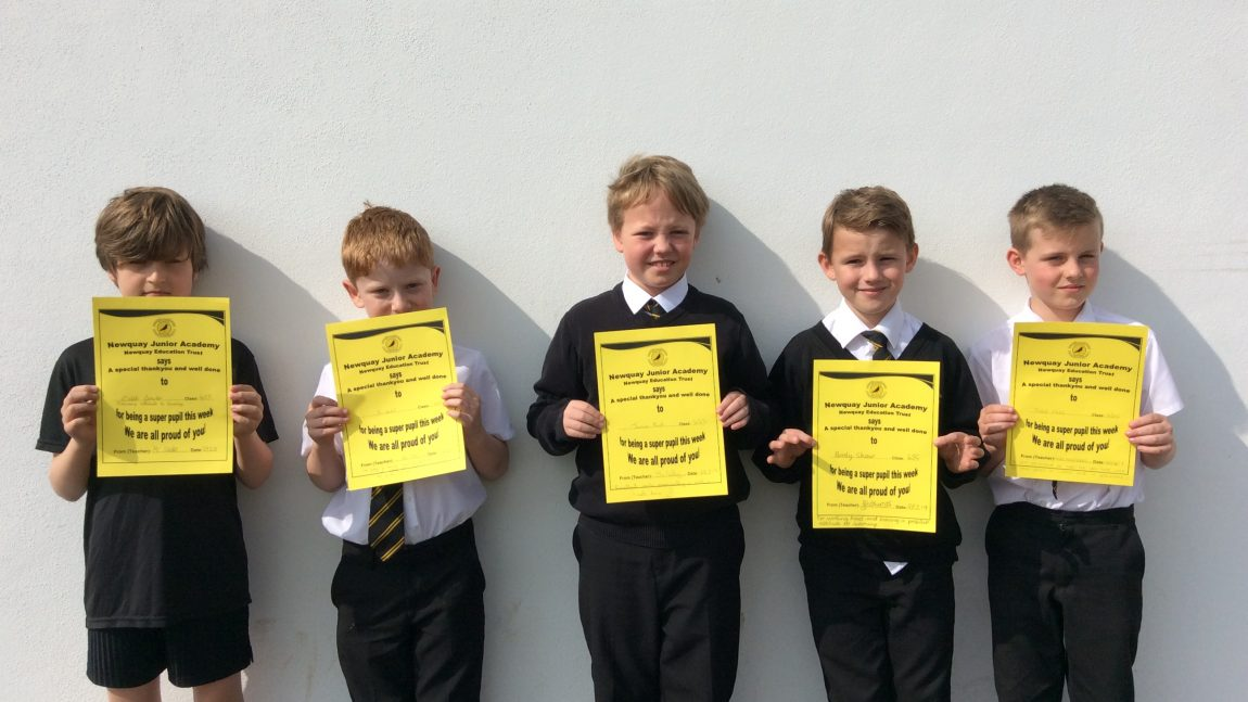 Yellow Certificate and Medal Winners – 29th March 2019