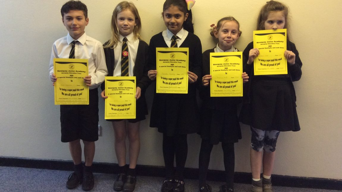 Yellow Certificate and Medal Winners – 8th March 2019