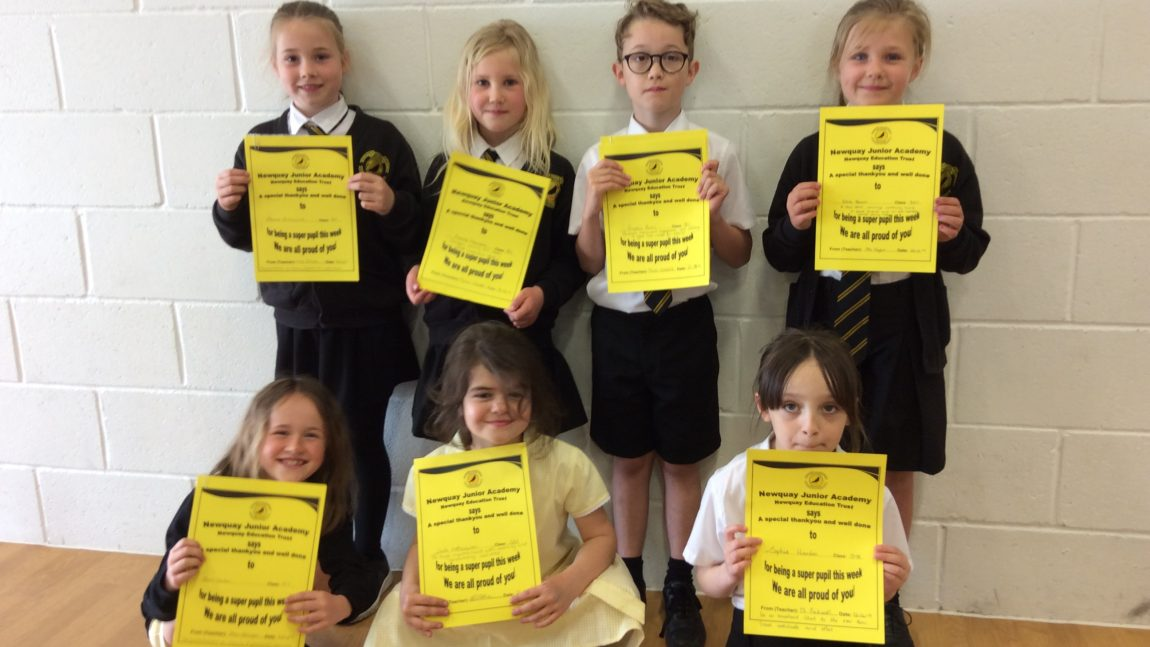 Yellow Certificate and Medal Winners – 26th April 2019
