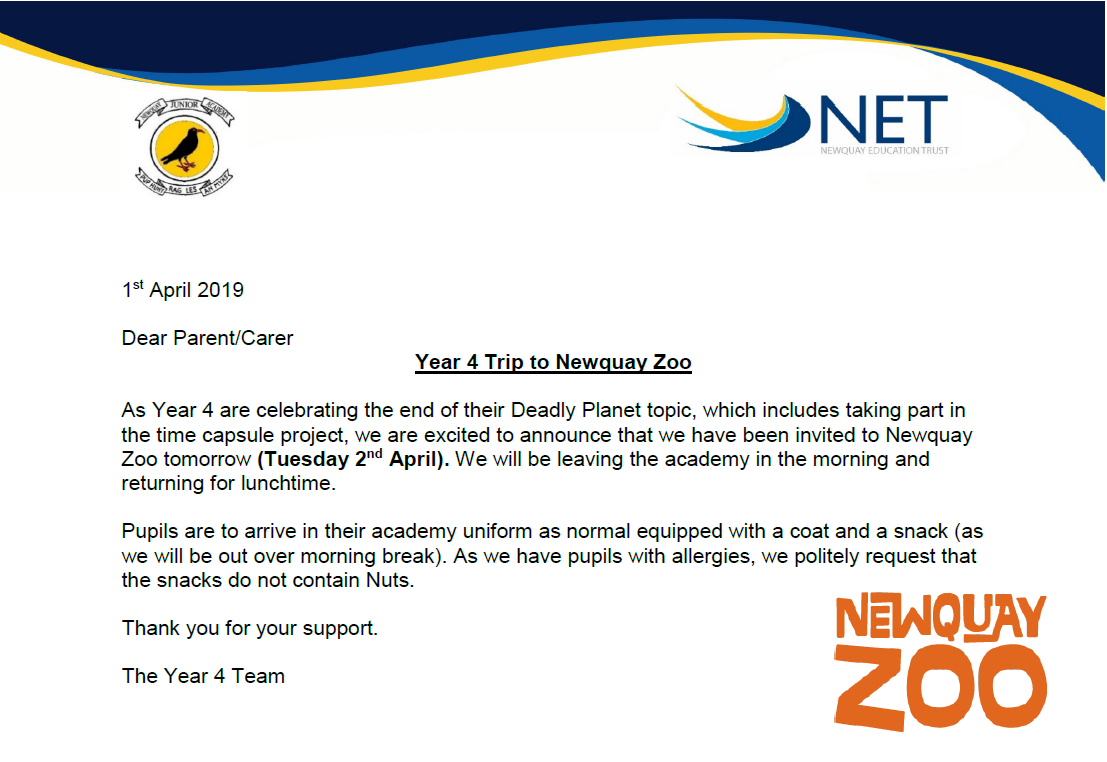 Year 4 Zoo Trip April 19