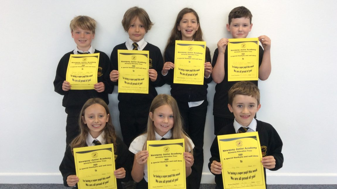 Yellow Certificate and Medal Winners – 3rd May 2019