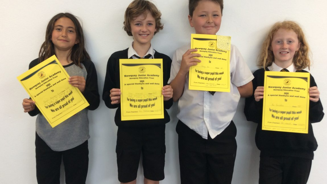 Yellow Certificate and Medal Winners – 10th May 2019