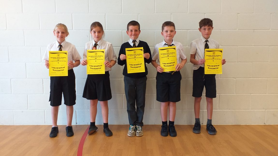 Yellow Certificate and Medal Winners – 21st June 2019