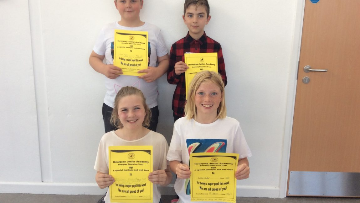 Yellow Certificate and Medal Winners – 14th June 2019