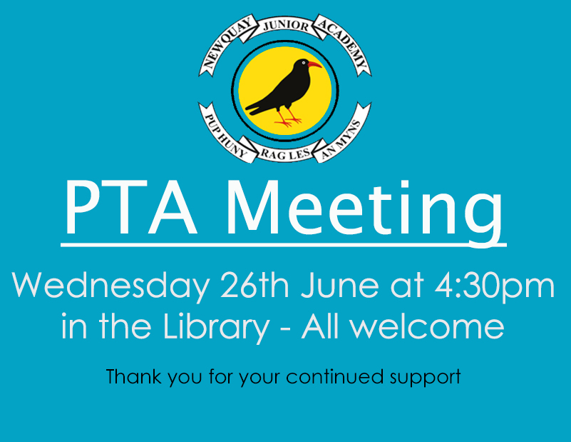 PTA Meeting – 26th June 2019