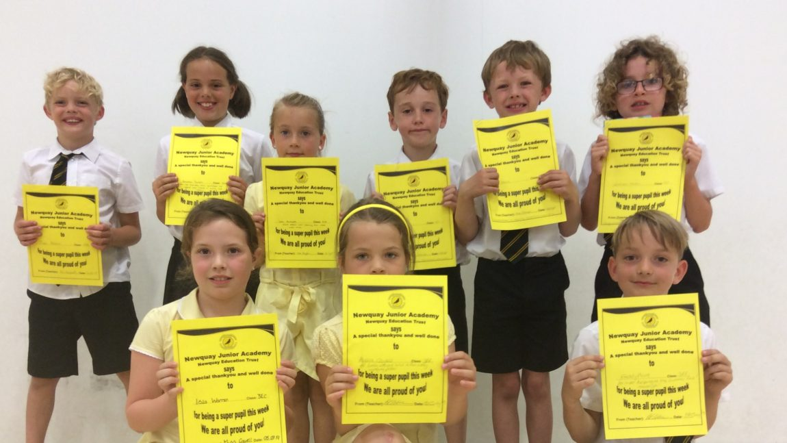 Yellow Certificate and Medal Winners – 5th July 2019