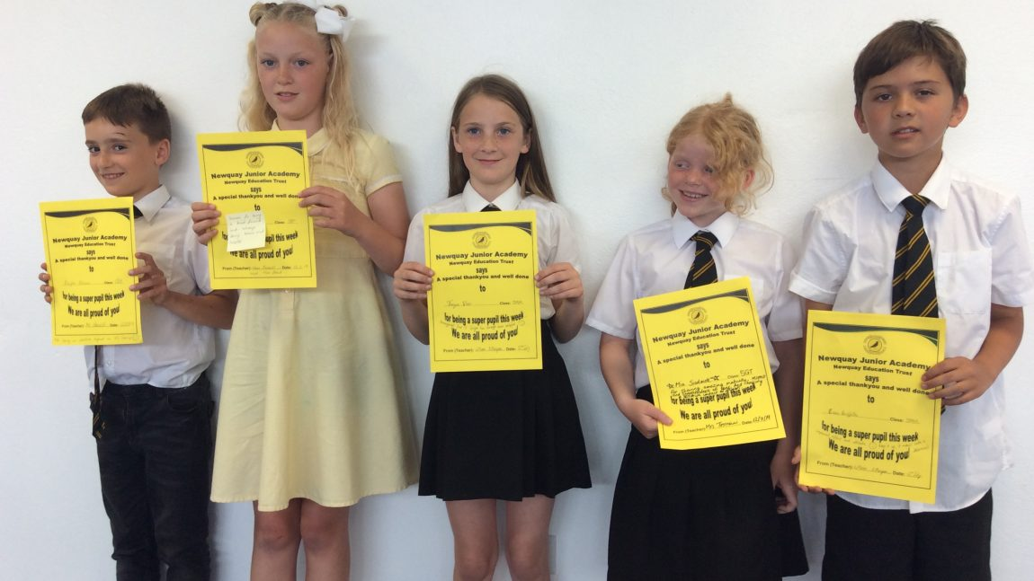 Yellow Certificate and Medal Winners – 12th July 2019