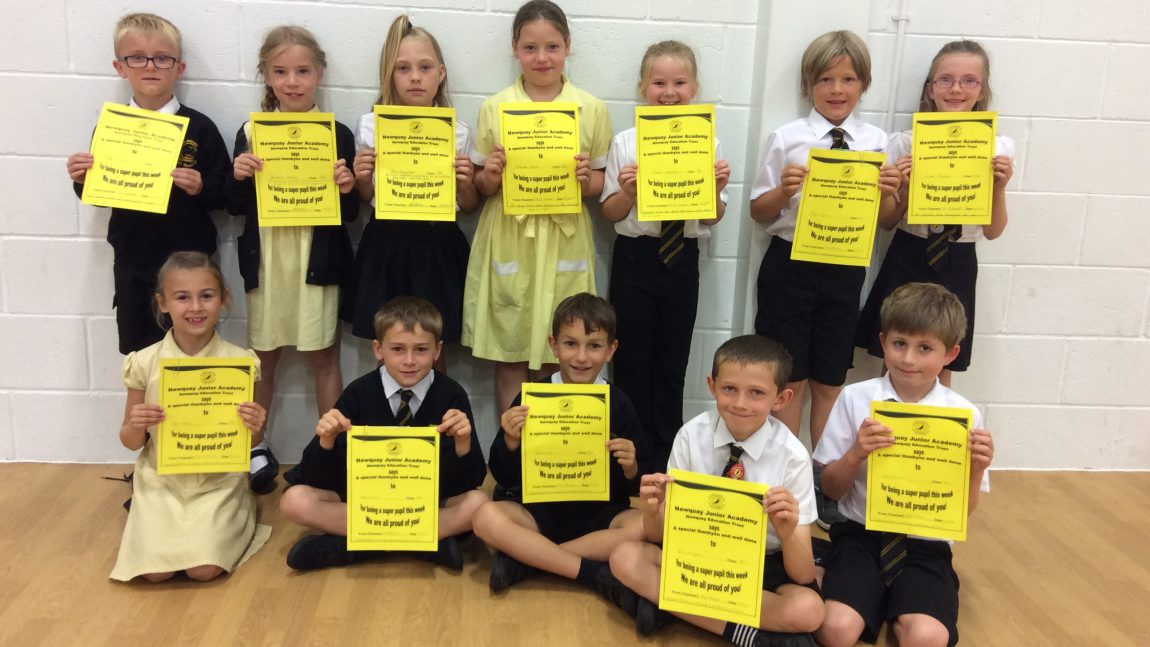 Yellow Certificate and Medal Winners – 19th July 2019