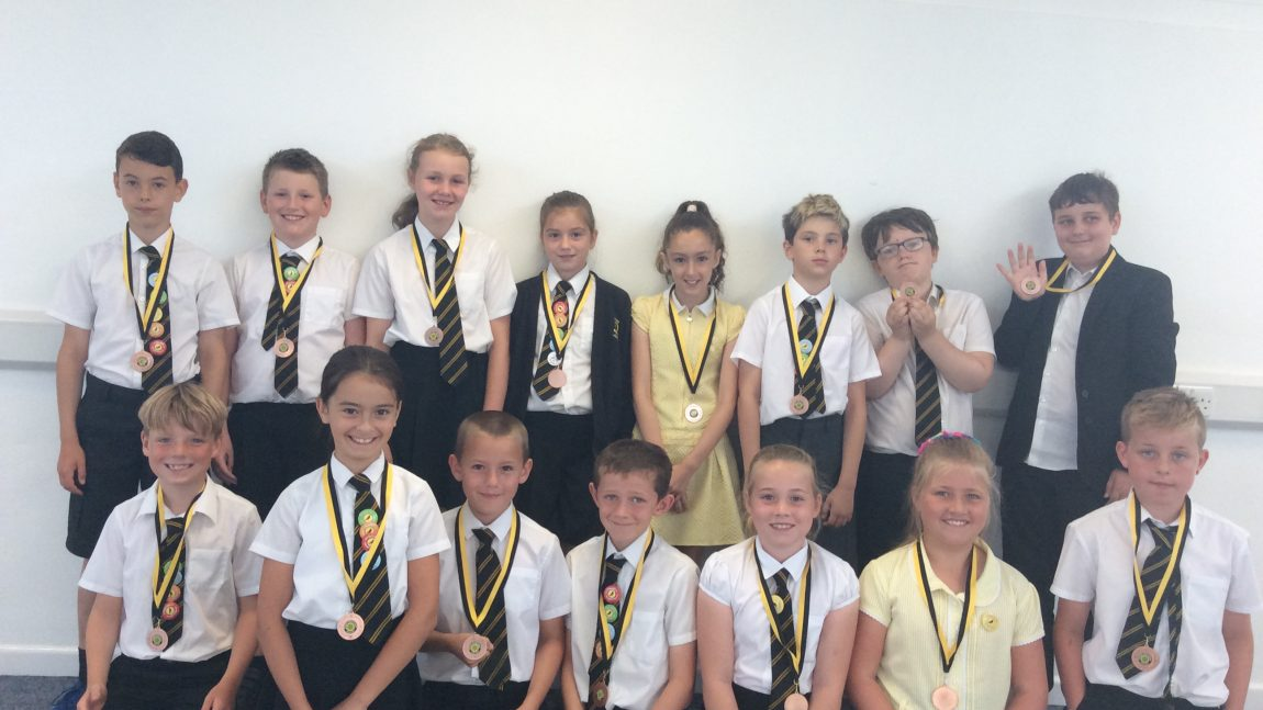 Yellow Certificate and Medal Winners – 25th July 2019