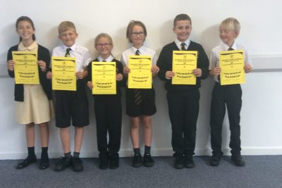 Yellow Certificate and Medal Winners – 6th + 13th September 2019
