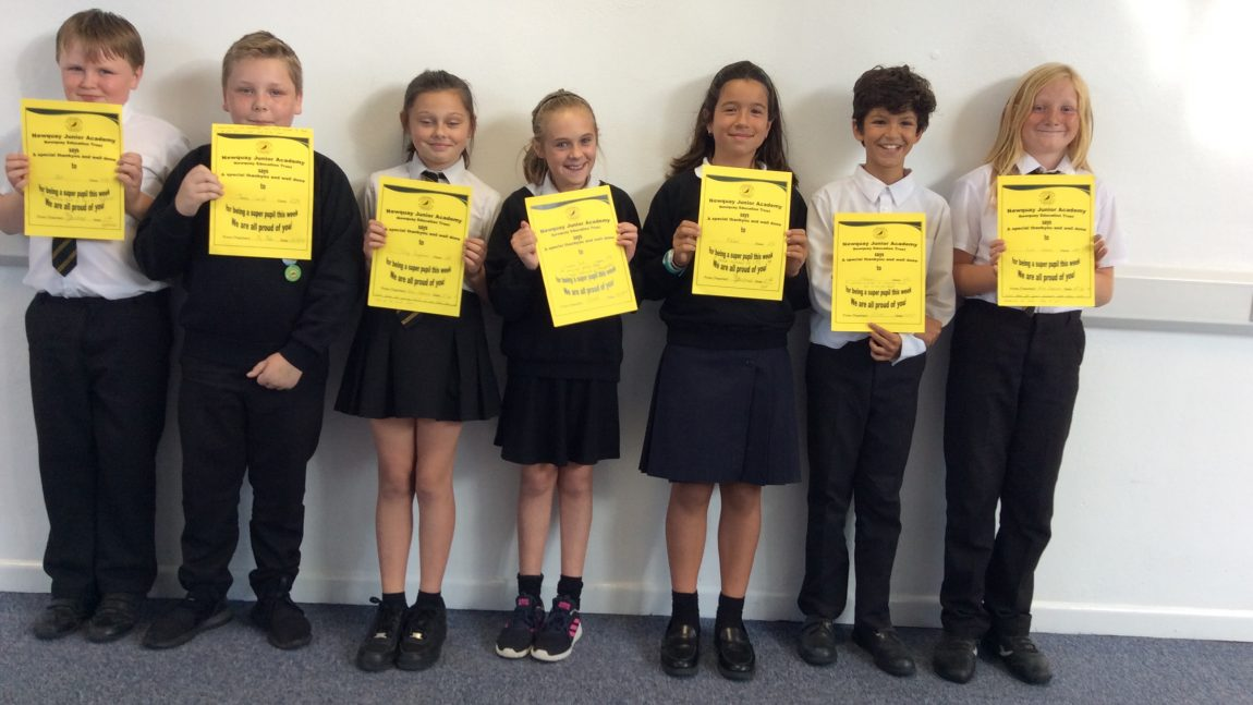 Yellow Certificate and Medal Winners – 27th September 2019