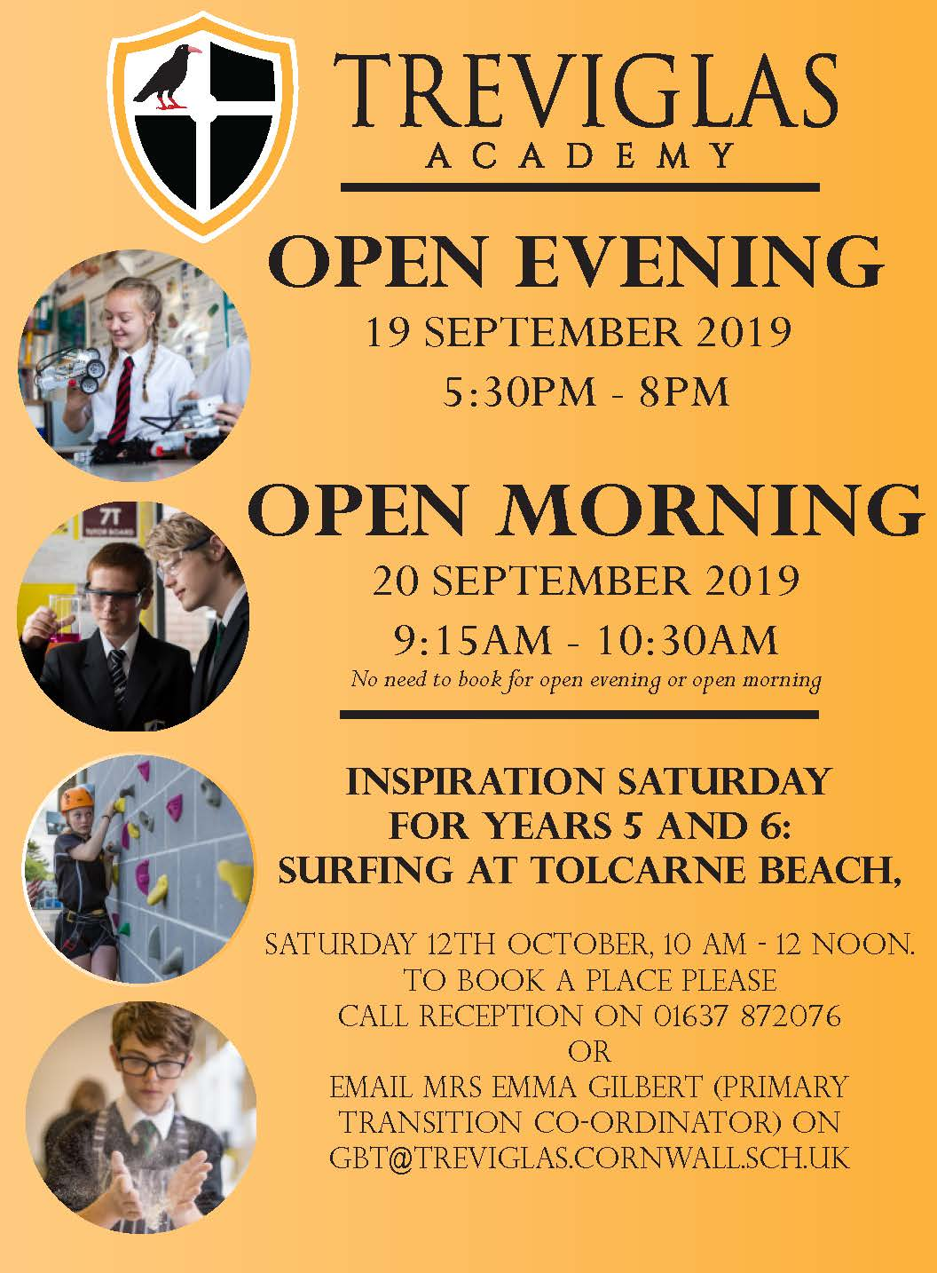 Treviglas Academy Open Events