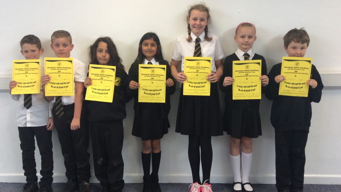 Yellow Certificate and Medal Winners – 4th October 2019
