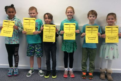 Yellow Certificate and Medal Winners – 1st November 2019