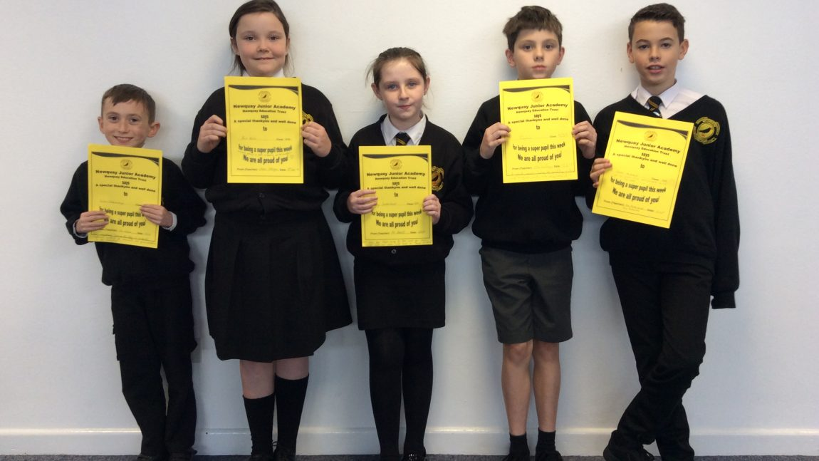 Yellow Certificate and Medal Winners – 15th November 2019