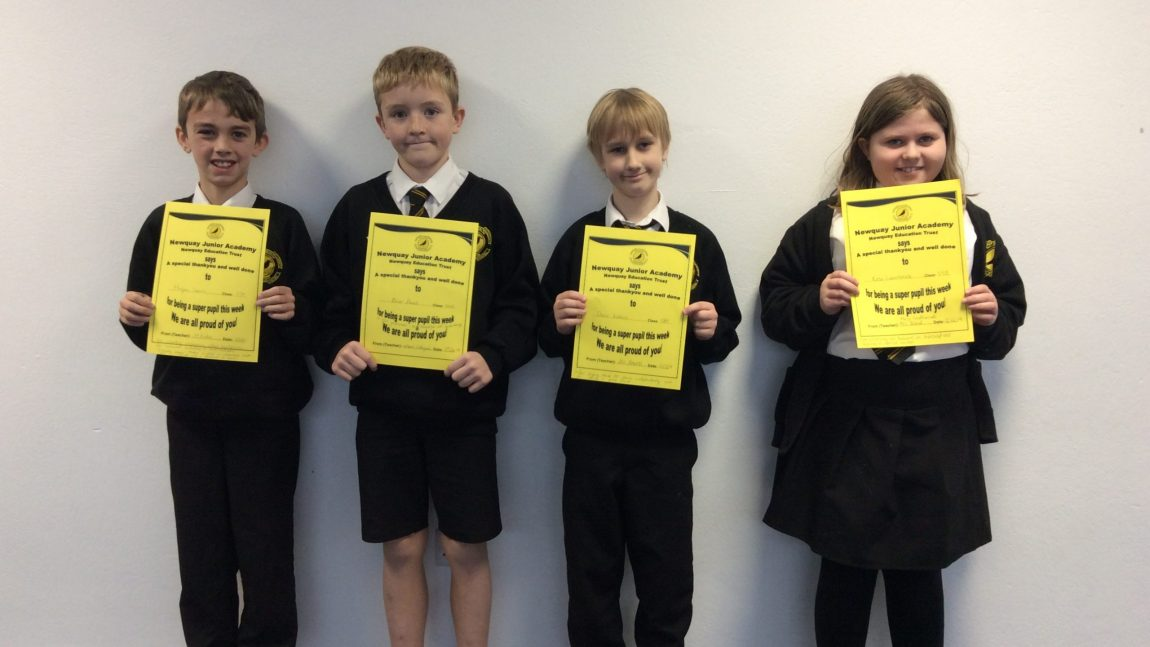 Yellow Certificate and Medal Winners – 13th December 2019
