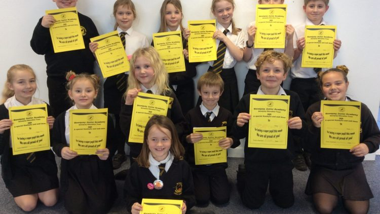 Yellow Certificate and Medal Winners – 10th January 2020