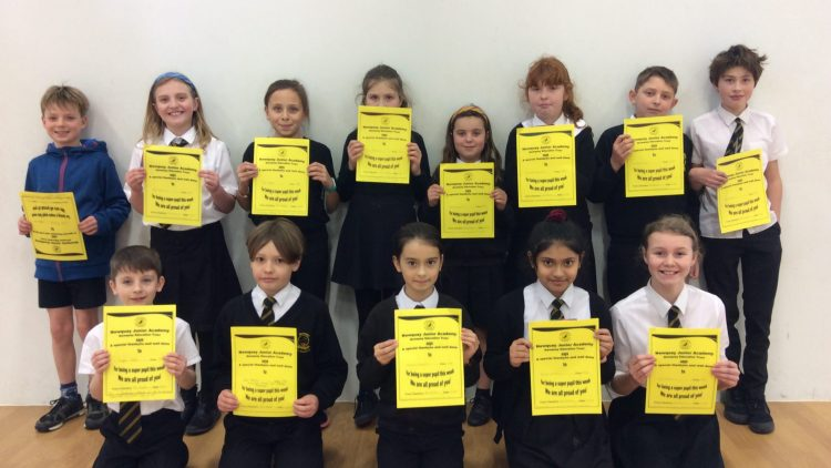 Yellow Certificate and Medal Winners – 17th January 2020