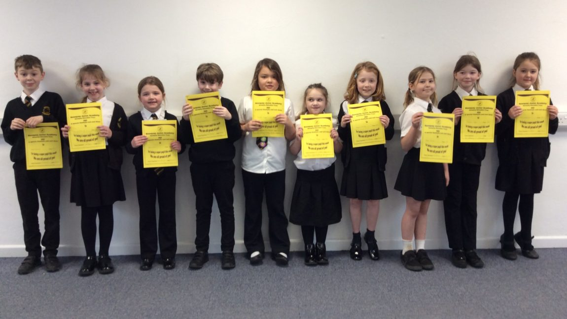 Yellow Certificate and Medal Winners – 6th March + 28th February 2020