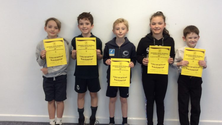 Yellow Certificate and Medal Winners – 13th March 2020