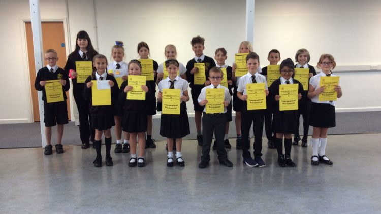 Yellow Certificate and Medal Winners – 11th September 2020