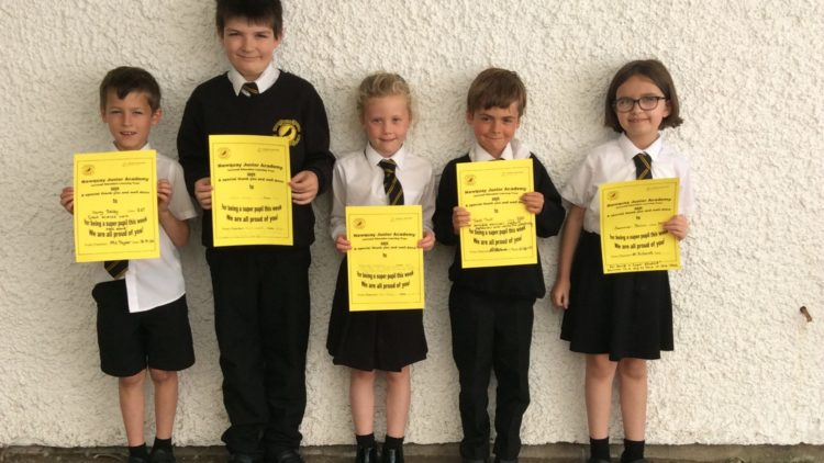 Yellow Certificate and Medal Winners – 18th September 2020