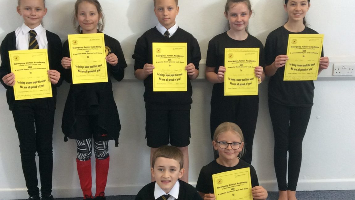 Yellow Certificate and Medal Winners – 25th September 2020