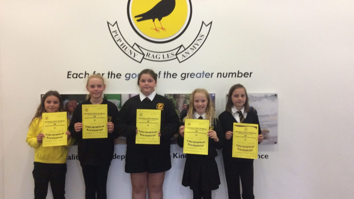 Yellow Certificate and Medal Winners – 2nd October 2020