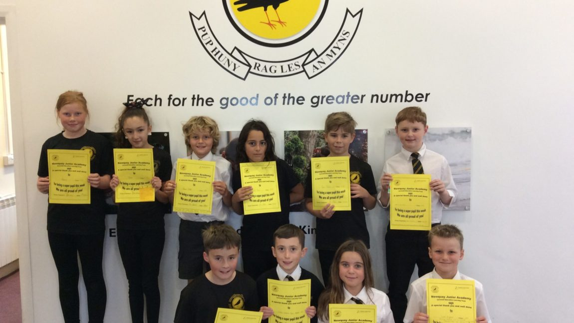 Yellow Certificate and Medal Winners – 9th October 2020